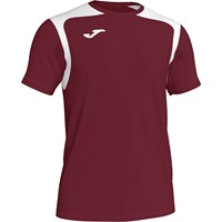 Joma Champion V Shirt Korte Mouw - Bordeaux / Wit