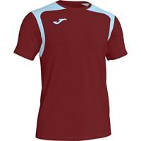 Joma Champion V Shirt Korte Mouw - Bordeaux / Hemelsblauw