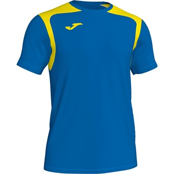 Picture of Joma Champion V Shirt Korte Mouw - Royal / Geel