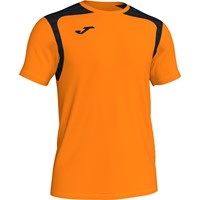 Joma Champion V Shirt Korte Mouw - Fluo Oranje / Zwart