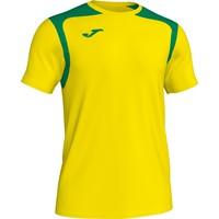 Joma Champion V Shirt Korte Mouw - Geel / Groen