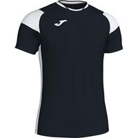 Joma Crew III T-shirt Kinderen - Zwart / Wit