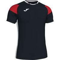 Joma Crew III T-shirt Kinderen - Zwart / Wit / Rood