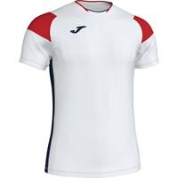 Joma Crew III T-shirt Kinderen - Wit / Marine / Rood