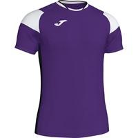Joma Crew III T-shirt - Paars / Zwart / Wit
