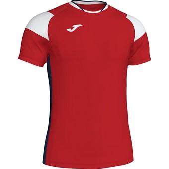 Picture of Joma Crew III T-shirt Kinderen - Rood / Marine / Wit
