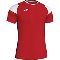 Joma Crew III T-shirt Kinderen - Rood / Marine / Wit