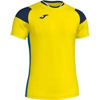 Joma Crew III T-shirt - Geel / Royal / Marine
