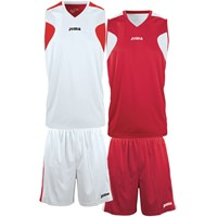 Joma Reversible Basketbalset - Wit / Rood
