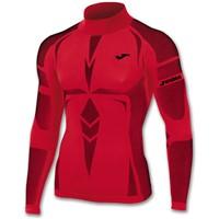 Joma Brama Emotion Shirt Opstaande Kraag - Rood / Zwart