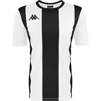 Kappa Caserne Shirt Korte Mouw - Wit / Zwart