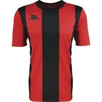 Kappa Caserne Shirt Korte Mouw - Rood / Zwart