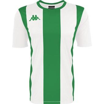 Picture of Kappa Caserne Shirt Korte Mouw - Wit / Groen