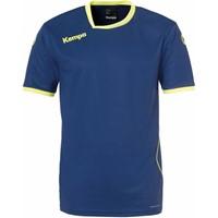 Kempa Curve Handbalshirt - Diep Blauw / Fluogeel
