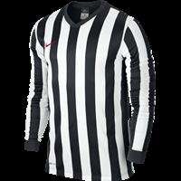 Nike Striped Division Voetbalshirt Lange Mouw Kinderen - Black / White / University Red