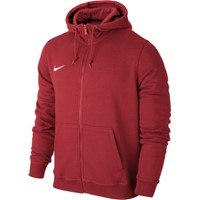 Nike Team Club Full Zip Hoody Sweater Met Rits Kinderen - University Red