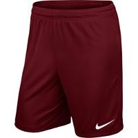 Nike Park II Short (zonder Binnenslip) - Bordeaux / White