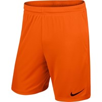Nike Park II Short (zonder Binnenslip) - Safety Orange / Black