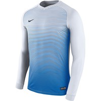 Nike Precision IV Voetbalshirt Lange Mouw Kinderen - Wit / Royal