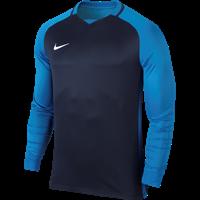 Nike Trophy III Voetbalshirt Lange Mouw - Marine / Photo Blue