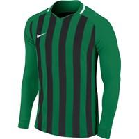 Nike Striped Division III Voetbalshirt Lange Mouw - Groen / Zwart