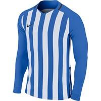 Nike Striped Division III Voetbalshirt Lange Mouw - Royal / Wit