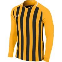 Nike Striped Division III Voetbalshirt Lange Mouw - Geel / Zwart