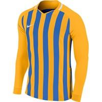 Nike Striped Division III Voetbalshirt Lange Mouw - Geel / Royal