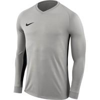Nike Tiempo Premier Voetbalshirt Lange Mouw - Grijs / Zwart