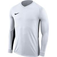 Nike Tiempo Premier Voetbalshirt Lange Mouw - Wit / Zwart