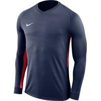 Nike Tiempo Premier Voetbalshirt Lange Mouw - Marine / Rood
