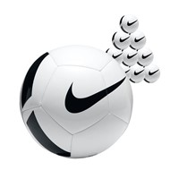Nike Pitch Team 50x Ballenpakket - Wit / Zwart