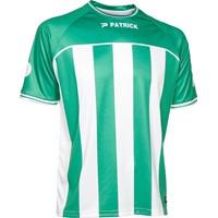 Patrick Coruna Shirt Korte Mouw - Groen / Wit