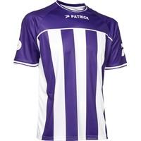 Patrick Coruna Shirt Korte Mouw - Paars / Wit