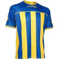 Patrick Coruna Shirt Korte Mouw - Royal / Geel