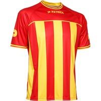 Patrick Coruna Shirt Korte Mouw - Rood / Geel