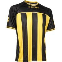 Patrick Coruna Shirt Korte Mouw - Zwart / Geel
