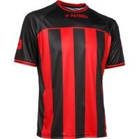 Patrick Coruna Shirt Korte Mouw - Zwart / Rood