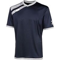 Patrick Force Shirt Korte Mouw - Marine / Grijs