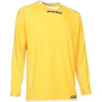 Patrick Girona105 Voetbalshirt Lange Mouw - Geel / Wit