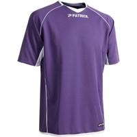 Patrick Girona101 Shirt Korte Mouw - Lila / Wit