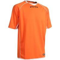 Patrick Girona101 Shirt Korte Mouw - Oranje / Wit