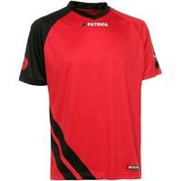 Patrick Victory Shirt Korte Mouw - Rood / Zwart