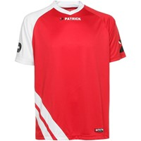 Patrick Victory Shirt Korte Mouw - Rood / Wit