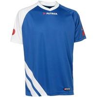Patrick Victory Shirt Korte Mouw - Royal / Wit
