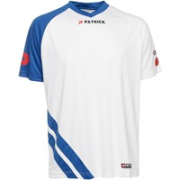 Patrick Victory Shirt Korte Mouw - Wit / Royal