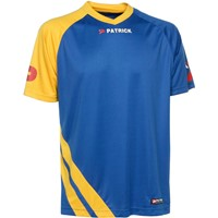 Patrick Victory Shirt Korte Mouw Kinderen - Royal / Geel