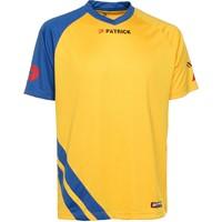 Patrick Victory Shirt Korte Mouw - Geel / Royal