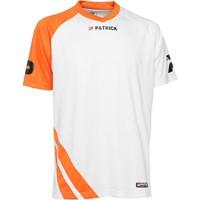Patrick Victory Shirt Korte Mouw - Wit / Oranje