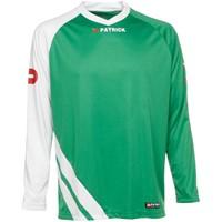 Patrick Victory Voetbalshirt Lange Mouw - Groen / Wit